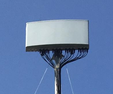 Flat panel antenna mount