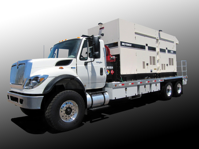 Image of a Generator On A Truck (GOAT) or mobile generator